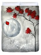Far Side of the Moon by MADART Duvet Cover by Megan Duncanson