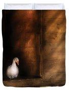Farm - Duck - Welcome To My Home Duvet Cover by Mike Savad