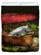 Farm - Laundry  Duvet Cover by Mike Savad