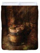 Farm - Pail - An Old Pail Duvet Cover by Mike Savad