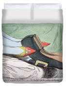 Fashionable Contrasts Duvet Cover by James Gillray