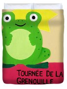 Fat Frog Best Duvet Cover by Oliver Johnston