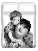 Father And Son  Duvet Cover by Peter Piatt