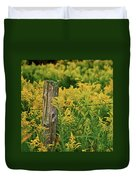 Fence Post7139 Duvet Cover by Michael Peychich