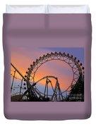 Ferris Wheel Sunset Duvet Cover by Eena Bo