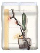 Festive Antique Herb Cutter Duvet Cover by Ken Powers