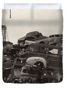 Field of Woody Dream Cars Duvet Cover by Jack Pumphrey