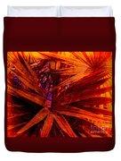 Fiery Palm Duvet Cover by Susanne Van Hulst