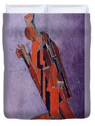 Figure Study Design For Sculpture Duvet Cover by Lawrence Atkinson