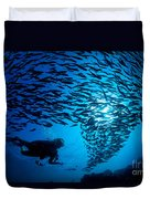 Fiji, Galapagos Islands Duvet Cover by Dave Fleetham - Printscapes
