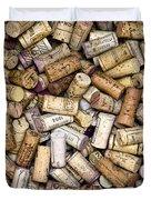 Fine Wine Corks Duvet Cover by Frank Tschakert