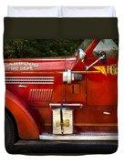 Fireman - Garwood Fire Dept Duvet Cover by Mike Savad