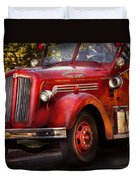 Fireman - The Garwood Fire Dept Duvet Cover by Mike Savad