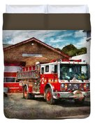 Fireman - Union Fire Company 1  Duvet Cover by Mike Savad
