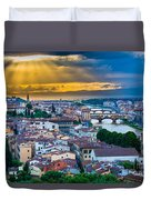 Firenze Sunset Duvet Cover by Inge Johnsson