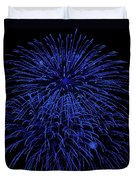 Firework Blues Duvet Cover by DigiArt Diaries by Vicky B Fuller