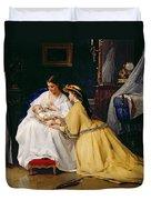First Born Duvet Cover by Gustave Leonard de Jonghe