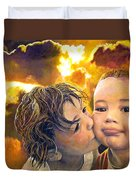 First Kiss Duvet Cover by Michael Durst