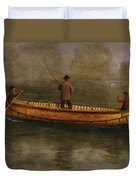 Fishing From A Canoe Duvet Cover by Albert Bierstadt