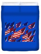 Flags American Duvet Cover by David Lee Thompson