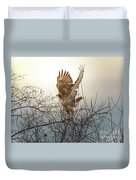 Flashing The Truckers Duvet Cover by Robert Frederick