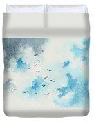 Flock Of Birds Duvet Cover by Michael Vigliotti