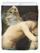 Flora and Zephyr Duvet Cover by William Adolphe Bouguereau