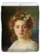 Flora Duvet Cover by Gustave Jacquet