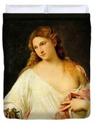 Flora Duvet Cover by Titian