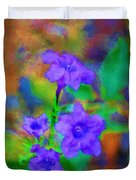 Floral Expression Duvet Cover by David Lane