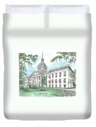 Florida Capitol 1902 Duvet Cover by Audrey Peaty