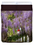 Flower - Wisteria - A House Of My Own Duvet Cover by Mike Savad