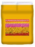Flower Fields Carlsbad Ca Giant Ranunculus Duvet Cover by Christine Till