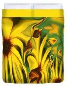 Flower Fun Duvet Cover by Linda Sannuti