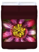 Flower - Intense Passion  Duvet Cover by Mike Savad