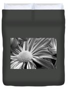 Flower Run Through It Black And White Duvet Cover by James BO  Insogna
