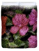Flower Sketch Duvet Cover by David Lane