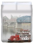 Foggy Chattanooga Duvet Cover by Tom and Pat Cory