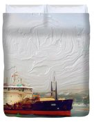 Foggy Morro Bay Duvet Cover by Methune Hively
