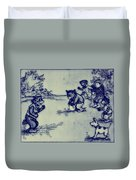 Football In The Park Duvet Cover by Bill Cannon