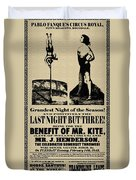For The Benefit Of Mr Kite Duvet Cover by Bill Cannon