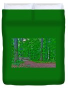Forest Walk Duvet Cover by Kevin Hill