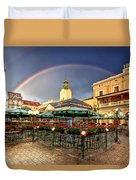 Forget Me Not Duvet Cover by Evelina Kremsdorf
