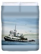 Foss Tugboat Martha Foss Duvet Cover by James Williamson