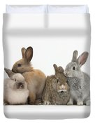 Four Baby Rabbits Duvet Cover by Mark Taylor