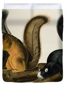 Fox Squirrel Duvet Cover by John James Audubon