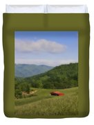 Franklin County Virginia Red Barn Duvet Cover by Teresa Mucha
