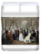 Franklin's Reception At The Court Of France Duvet Cover by War Is Hell Store