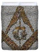 Freemason Coin Mosaic Duvet Cover by Paul Van Scott