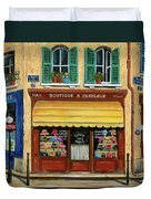 French Hats And Purses Boutique Duvet Cover by Marilyn Dunlap